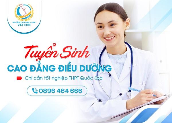 Cao đẳng Công Nghệ Y Dược Việt Nam tuyển sinh Cao đẳng Điều Dưỡng năm 2021