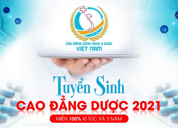 Cao đẳng Công Nghệ Y Dược Việt Nam tuyển sinh cao đẳng Dược miễn 100% ký túc xá 3 năm