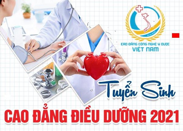 Cao đẳng Công Nghệ Y Dược Việt Nam  tuyển sinh Cao đẳng điều dưỡng