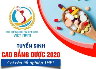 Thông báo tuyển sinh cao đẳng dược chính quy 2020